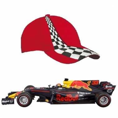 Groothandel formule 1 speelgoedwagen max verstappen 1:43 met rode pet