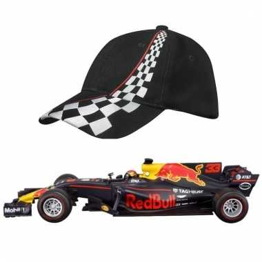 Groothandel formule 1 speelgoedwagen max verstappen 1:43 met zwarte p