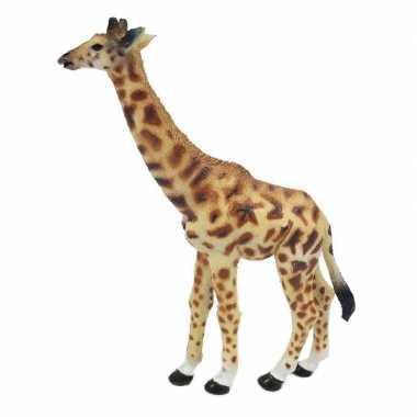 Groothandel geel/bruine speelgoed giraf 15 cm kopen