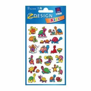 Groothandel gekleurde schildpad stickertjes 2 vellen speelgoed kopen