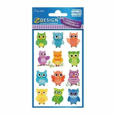Groothandel gekleurde uilen stickertjes speelgoed kopen