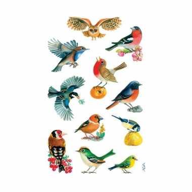 Groothandel gekleurde vogel stickertjes 3 vellen speelgoed kopen
