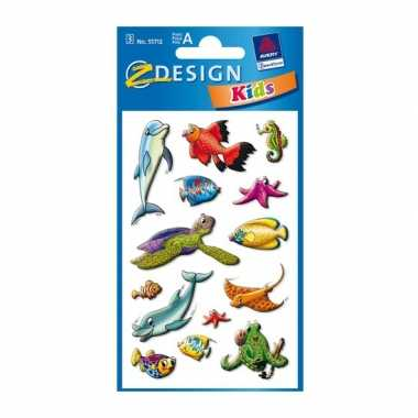Groothandel gekleurde zeedieren stickertjes 2 vellen speelgoed kopen