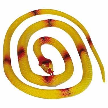 Groothandel gele speelgoed slangen 140 cm kopen