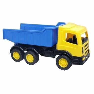 Groothandel gele speelgoed truck met laadklep kopen