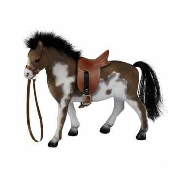 Groothandel gevlekt speelgoed paard met zadel kopen