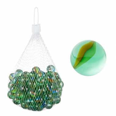 Groothandel glazen knikkers speelgoed 101 stuks groen kopen