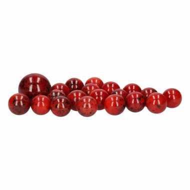Groothandel glazen knikkers speelgoed 20x red pyroman kopen