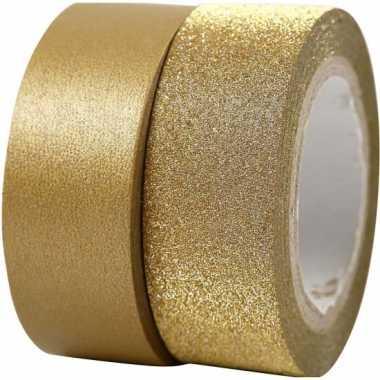 Groothandel glitter tape goud 2 rollen speelgoed kopen