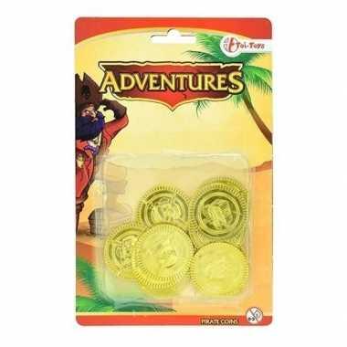 Groothandel gouden dukaten uit een piratenschat speelgeld speelgoed k