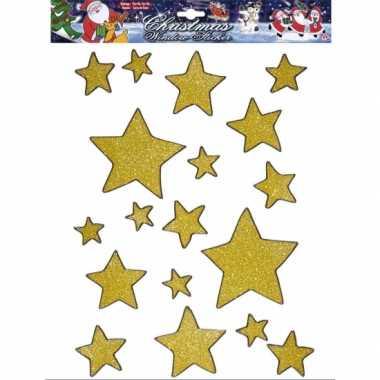 Groothandel gouden ster raamstickers 18 stuks speelgoed kopen