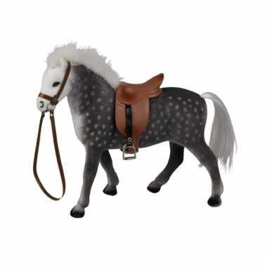 Groothandel grijs speelgoed paard met zadel kopen