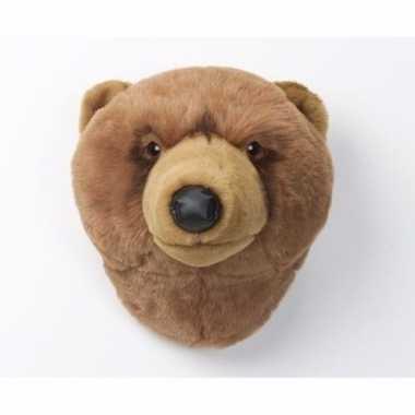 Groothandel grizzly berenkop voor aan de muur speelgoed