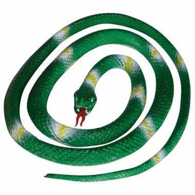 Groothandel groene speelgoed slangen 140 cm kopen