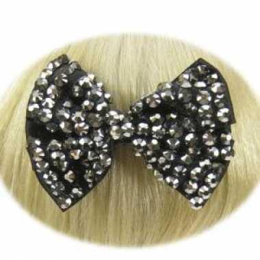 Groothandel haarklemmen strikje zwart speelgoed