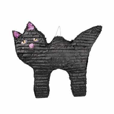 Groothandel halloween thema pinata zwart katje poesje 58 cm speelgoed