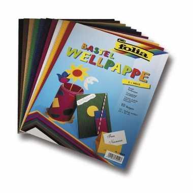 Groothandel hobby golfkarton gekleurd 10 vellen speelgoed kopen