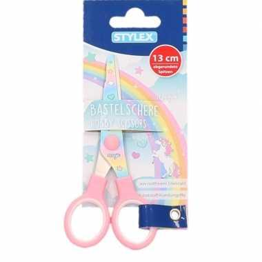 Groothandel hobby/speelgoed schaar met regenboog print kopen