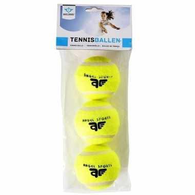 Groothandel honden/huisdieren speelgoed tennisballen 12 stuks kopen