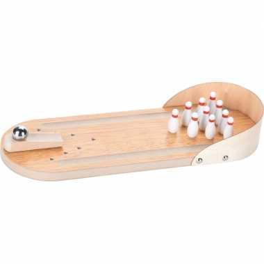 Groothandel houten bowling/kegel mini binnen speelgoed set 30 cm kope