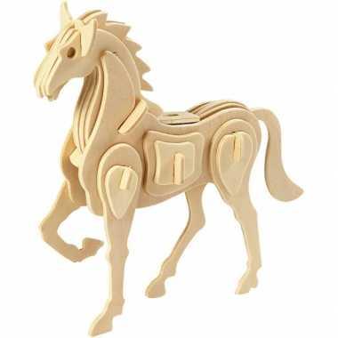 Groothandel houten dieren 3d puzzel paard speelgoed kopen