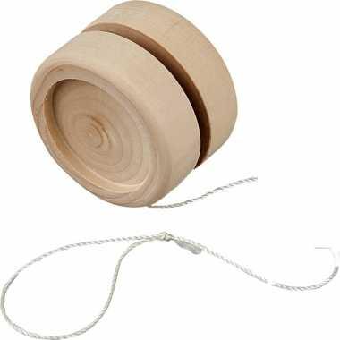 Groothandel houten jojo 5 cm om te knutselen speelgoed kopen