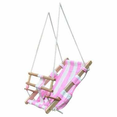 Schommel Baby Hout.Groothandel Houten Schommel Voor Baby Wit Roze Speelgoed Kopen