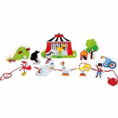 Groothandel houten speelgoed circus met dieren kopen