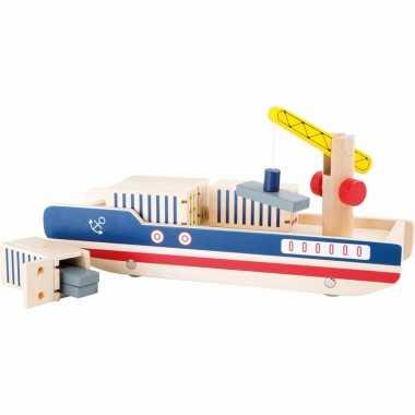 Groothandel houten speelgoed container schip met containers kopen