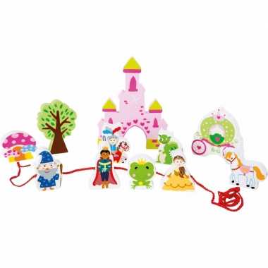 Groothandel houten speelgoed roze kasteel voor meisjes kopen