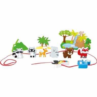 Groothandel houten speelgoed safari met dieren