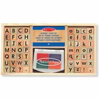 Groothandel houten stempelsetje alfabet speelgoed kopen