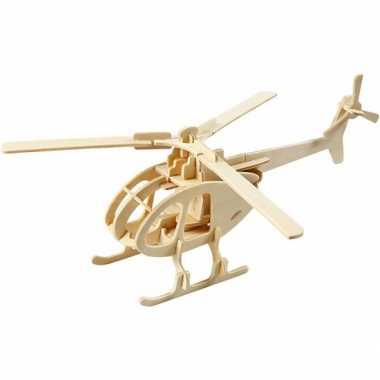 Groothandel houten voertuigen 3d puzzel helicopter speelgoed