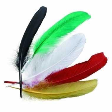 Groothandel indianenveren gekleurd 16cm speelgoed
