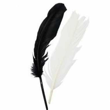 Groothandel indianenveren zwarte en witte 16 cm speelgoed