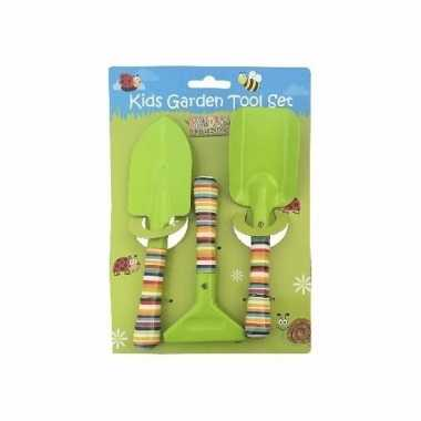 Groothandel jongens gereedschap voor in de tuin 3 delig speelgoed