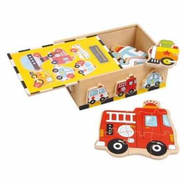 Groothandel kado voor jongens voertuigen puzzel speelgoed