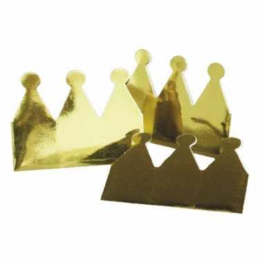 Groothandel kartonnen kroon goud 12x stuks speelgoed
