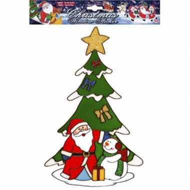 Groothandel kerst raamsticker kerstman en sneeuwpop speelgoed kopen