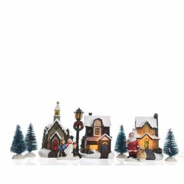 groothandel kerstdorp maken decoratie huisjes met led verlichting 95