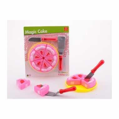 Groothandel keuken speelgoed roze taart