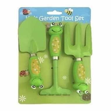 Groothandel kikker gereedschap set voor in de tuin 3-delig speelgoed