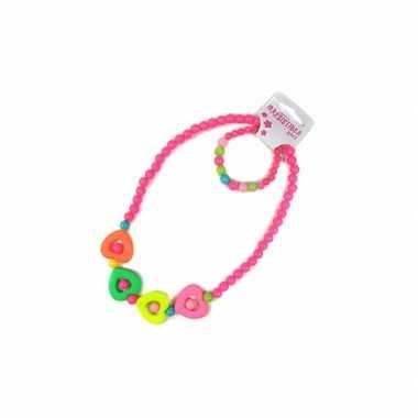 Groothandel kinder ketting en armband met hartjes speelgoed