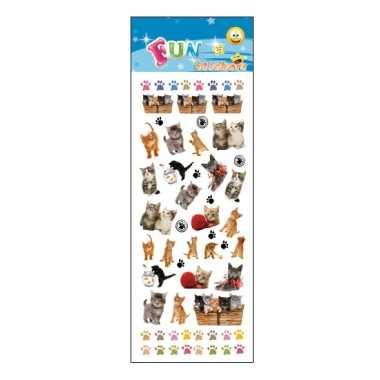 Groothandel kinder kittens/poezen stickers speelgoed kopen