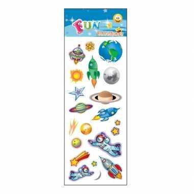 Groothandel kinder space stickers speelgoed