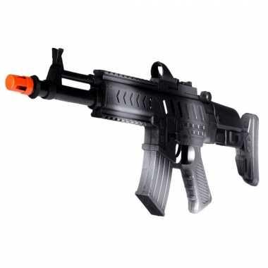 Groothandel kinder speelgoed verkleed wapen/machinegeweer soldaten/leger met geluid 50 cm kopen