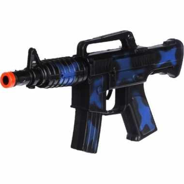 Groothandel kinder speelgoed verkleedwapen/machinegeweer soldaten/leger met geluid 27 cm kopen