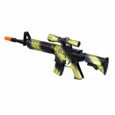 Groothandel kinder speelgoed verkleedwapen/machinegeweer soldaten/leger met geluid 39 cm kopen
