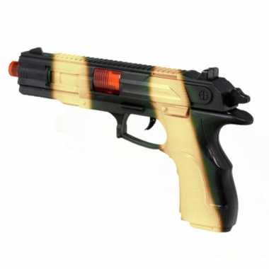 Groothandel kinder speelgoed verkleedwapen/pistool soldaten/leger met licht en geluid 23 cm kopen