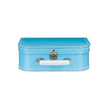 Groothandel kinderkoffertje blauw 25 cm speelgoed kopen